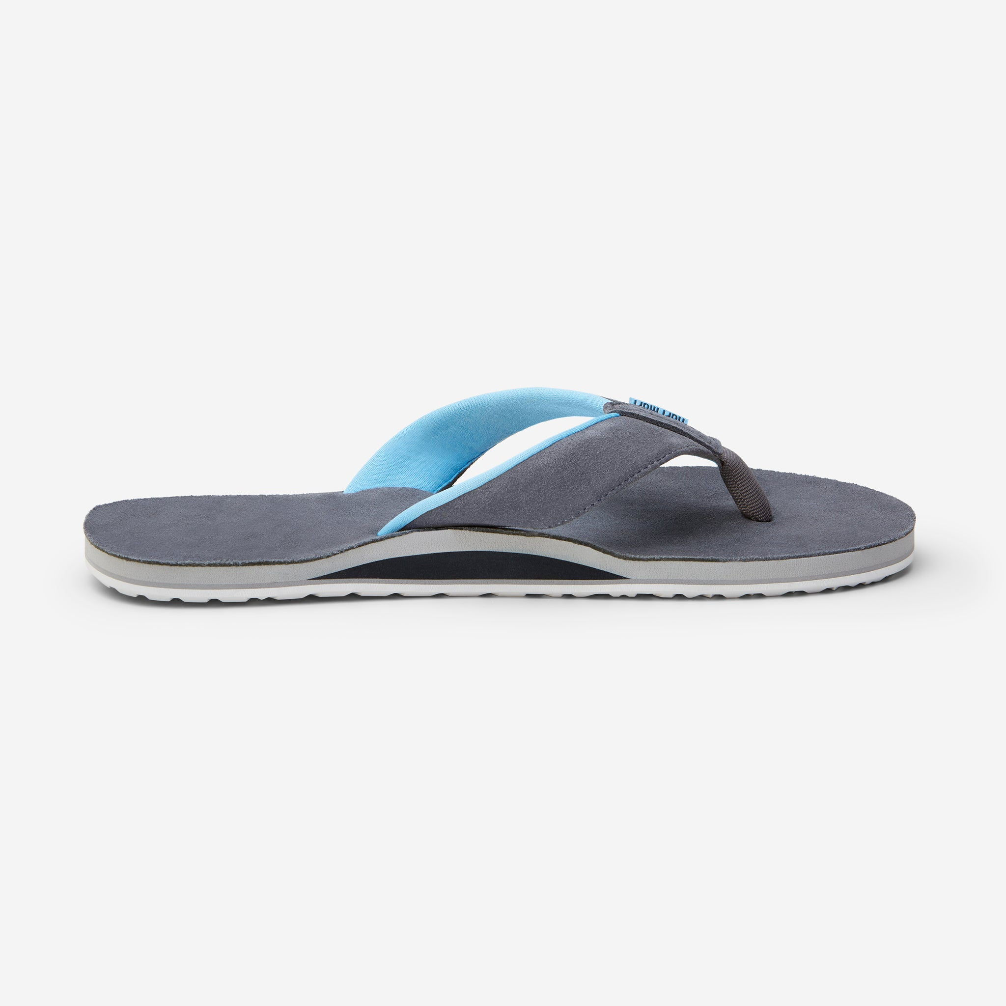 side profile of Hari Mari Men's Park Ranger Flip Flops in Charcoal on white background