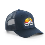 Sun-Flop Trucker Navy-45 Degree View