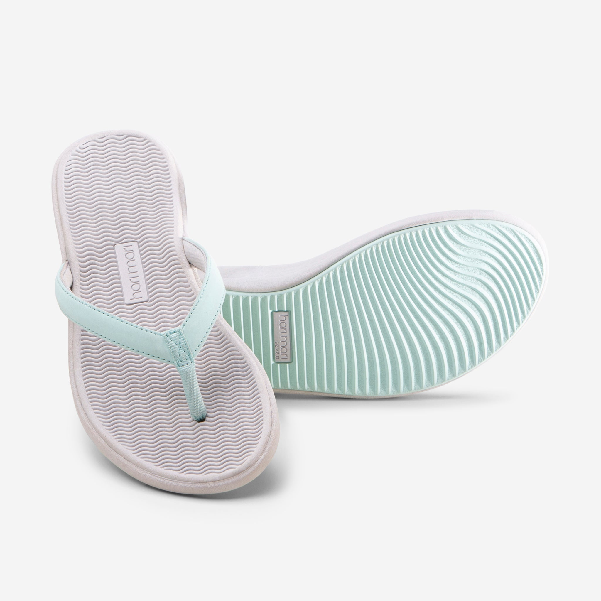 Beachsides - Women's - Aqua/Light Gray - 45 Degree/Bottom View
