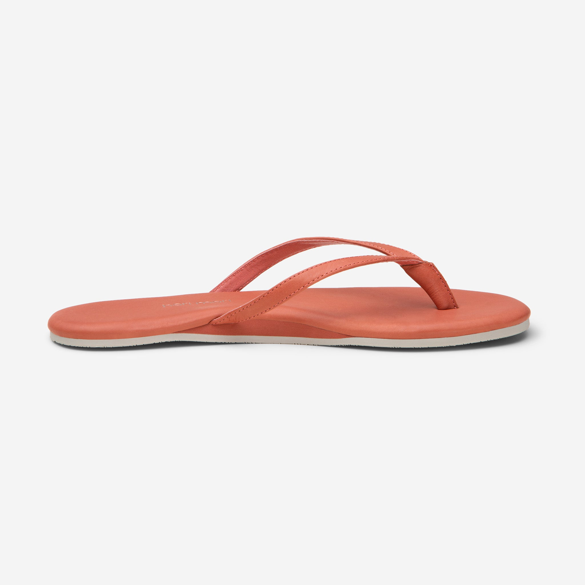 side profile of Hari Mari Women's The Mari Flip Flop in Bruschetta on white background