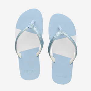 Hari Mari Youth Meadows Asana Glitter in Light Blue on white background