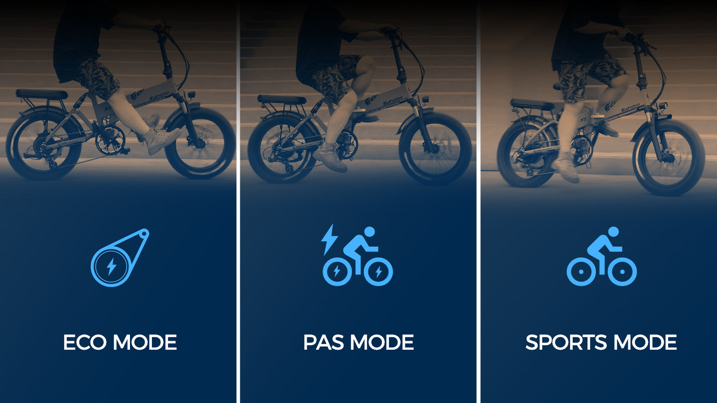 Three riding modes are available