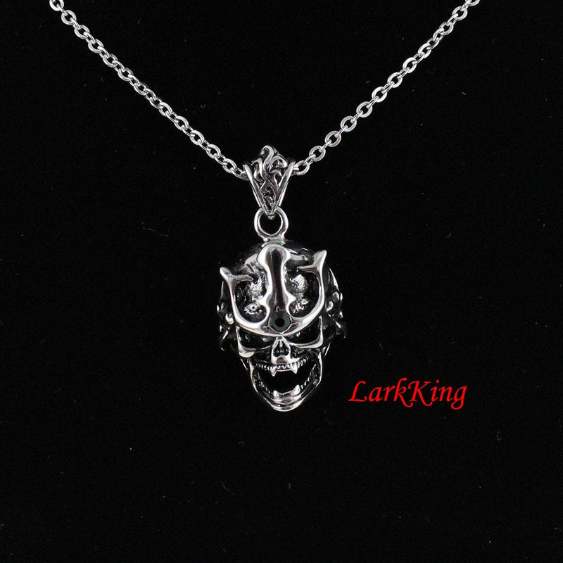 Skull necklace, skeleton necklace, skull pendant, stainless steel, skull jewelry, steel skull, skull gifts, halloween skeleton, NE7077
