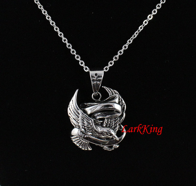 Darling necklace, bird necklace, stainless steel, darling charm, darling pendant, unique eagle necklace, popular eagle necklace, NE7085