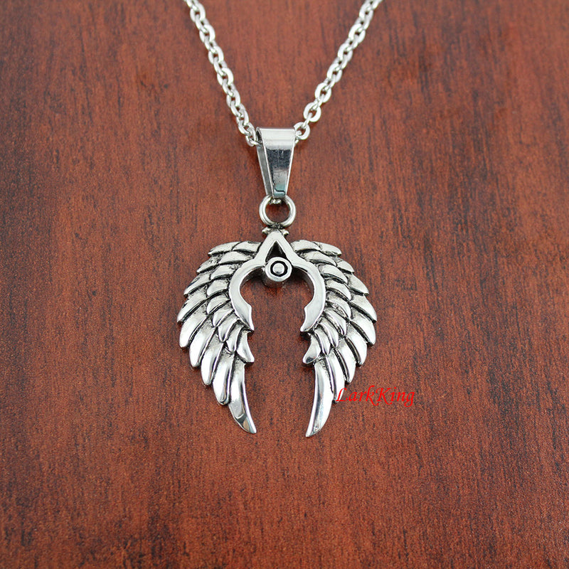 Wings necklace, eagle wings, nature necklace, bird necklace, wings charm, bird wings, wings pendant, stainless steel, girls necklace, NE7030
