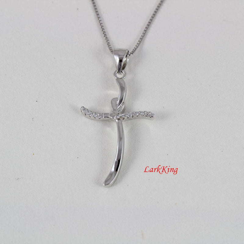Sterling silver cross necklace, small cross, girls cross, silver necklace, girls cross necklace, mens cross necklace, cross gifts, NE8266