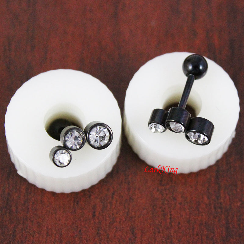 Black stud earrings, crystal stud earrings; statement stud earrings, black studs, black earring, unique studs; surgical steel studs; SE3066
