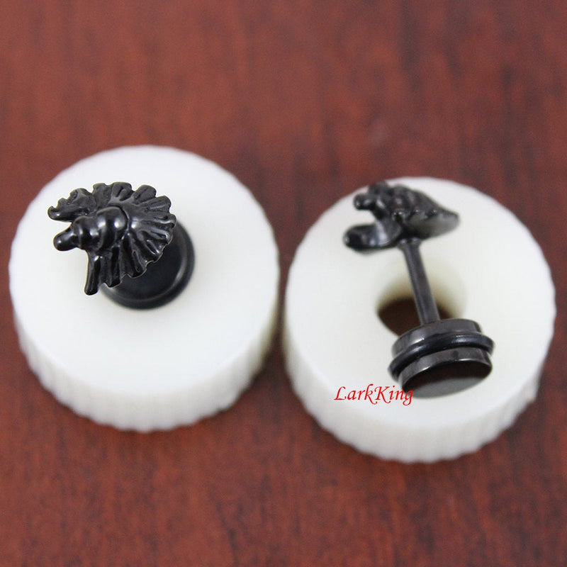 Goose stud earrings; goose earrings; bird stud earrings; black earrings,black studs, cute stud earrings; surgical steel studs,  SE3017