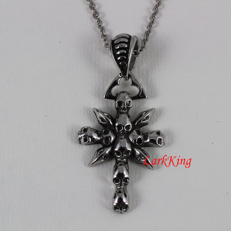 Cross necklace, stainless steel, cross, religious cross gift, communion gift, catholic gift, confirmation gift, cross jewelry, NE5005
