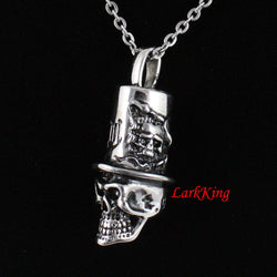 Skull necklace, skeleton necklace, stainless steel, halloween necklace, fashion necklace, Jewelry necklace, skull pendant, NE7086