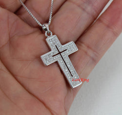 White gold filled stainless steel cross necklace, South Africa crystal cross necklace, cross, religious gift, christening gift, NE34