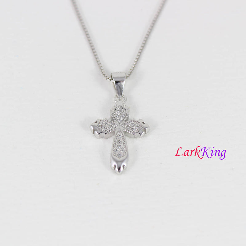 Small sterling silver cross necklace, cross necklace, girls cross necklace, religion necklace, cross necklace women, Christian gift,  NE8360
