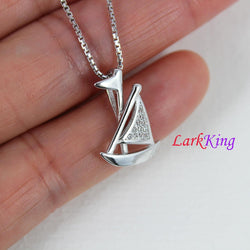 Sterling silver sail boat necklace, boat necklace, sailor necklace, girls necklace, boys necklace, best friend necklace, cute boat, NE8368