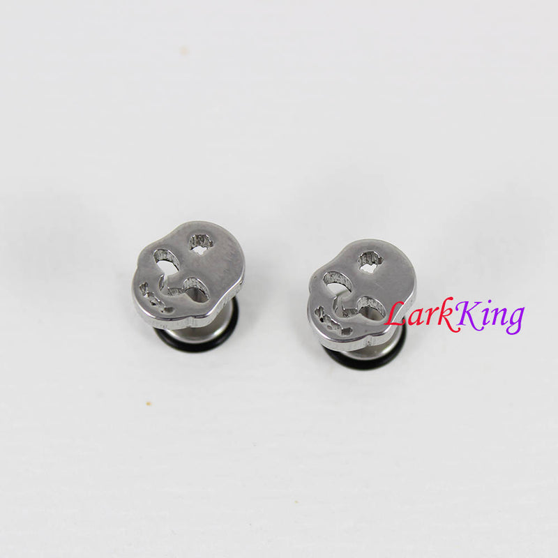 Face stud earrings, skull stud earrings, statement earrings, men studs, earrings for men, skull earrings, stainless steel, Larkking SE3515