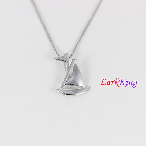 Sterling silver sail boat necklace, nautical necklace, boat necklace, sailor necklace, boys necklace,girl necklace, graduation gift,  NE8349