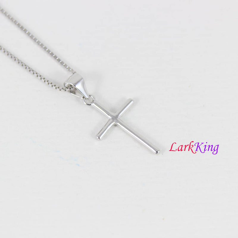 Tiny cross necklace, sterling silver cross necklace, simply cross necklace, religion cross necklace, christian jewelry, boys cross, NE8388