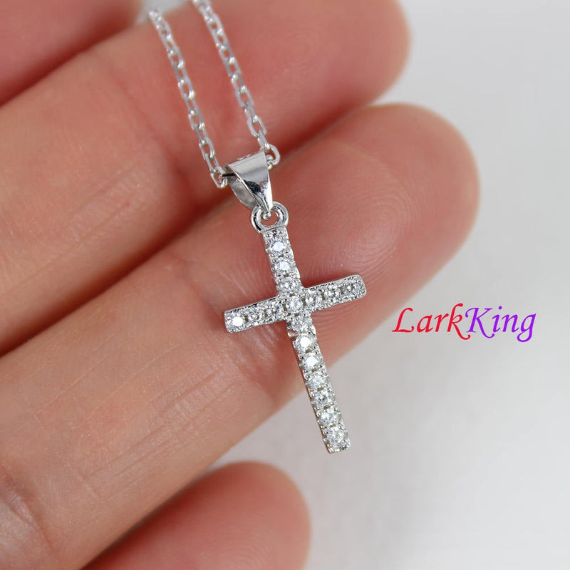 Tiny cross necklace, sterling silver cross, personalized cross necklace; silver necklace, girls cross necklace, cross necklace women, NE8410