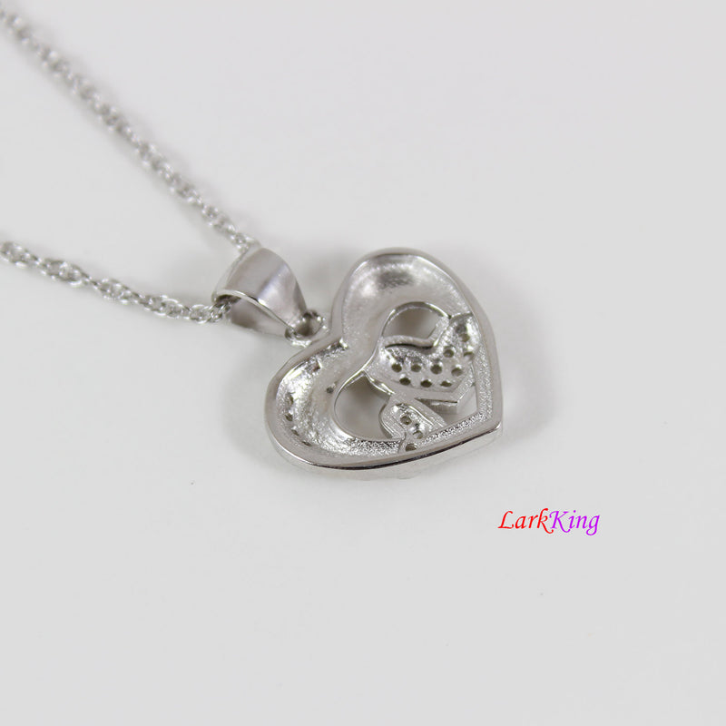 Sterling silver heart necklace,generations necklace for grandma,triple hearts for mom and granddaughter,mother day gift,Larkking LK9223