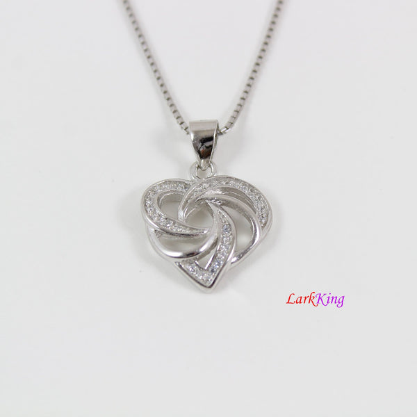 Sterling silver heart necklace,generations necklace for grandma and mom,unique multiple hearts necklace,mother's day gift, Larkking LK9225