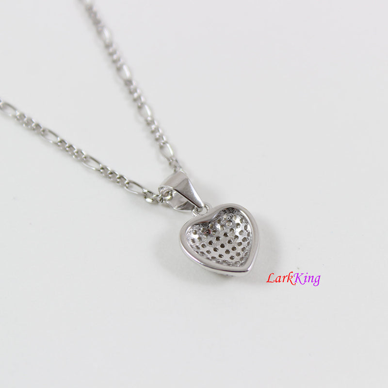 Tiny heart necklace,sterling silver heart necklace for girl,silver heart necklace women,best friend heart necklace,valentine day gift,LK9261