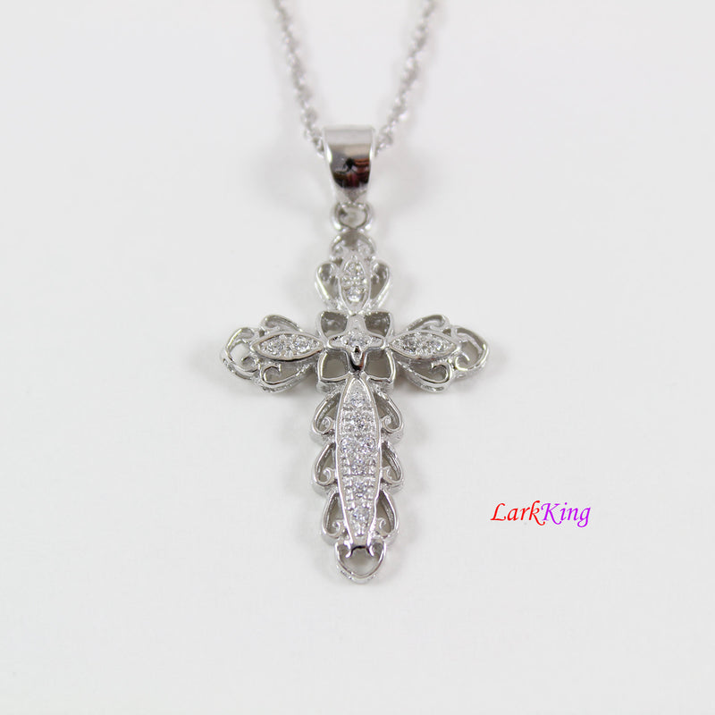 Sterling silver cross necklace, silver necklace, small cross necklace,unique cross necklace, christian necklace, christian cross, NE8288
