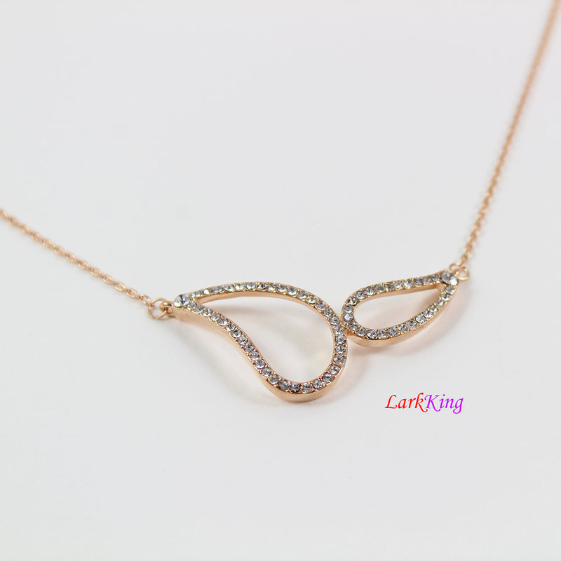 Stainless steel infinity necklace, initial infinity necklace, personalized necklace, personalized initial necklace gold, rose gold, PN68