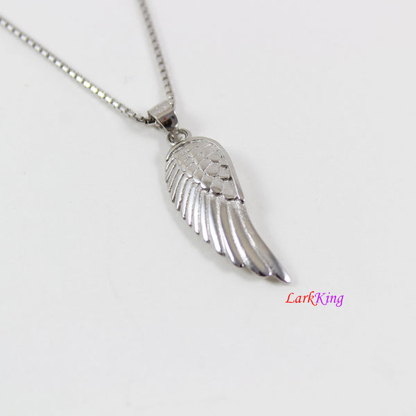 Sterling silver wing necklace, angel wing necklace, wing necklace for girl, wing necklace for women, silver wing necklace gift, LK8444