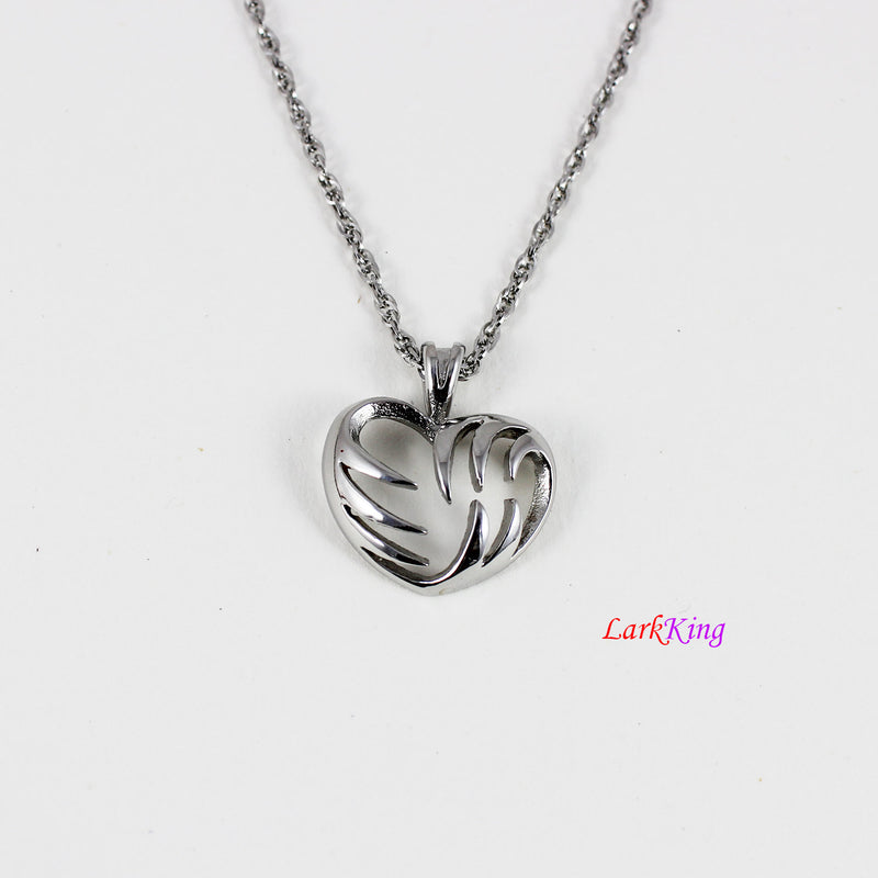 Heart necklace, heart pendant, heart charm, stainless steel, forever necklace, tiny heart necklace, love necklace, anatomic heart, NE6623