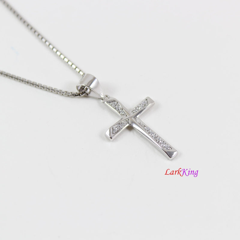Sterling silver cross necklace, small cross necklace, unique cross pendant, cross necklace women, cross for girl, christian jewelry,  NE8447