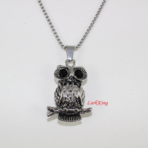 Owl necklace, animal necklace, stainless steel, owl head necklace, owl pendant, unique owl necklace, popular owl necklace, NE7004