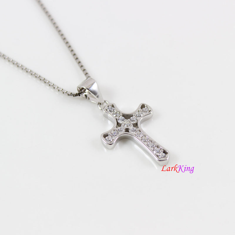 Sterling silver cross necklace, tiny cross necklace, small cross necklace, Christian cross necklace, religion necklace, Baptism gift, NE8379