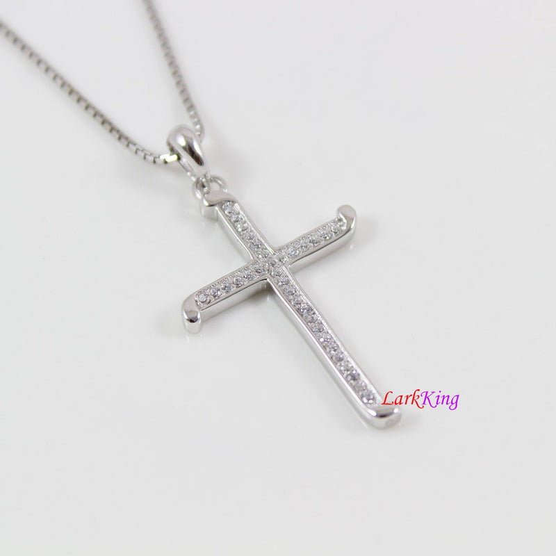 Sterling silver big cross necklace, thick cross pendant, Christian cross, cross necklace men, cross necklace boys, religious jewelry, LK8490