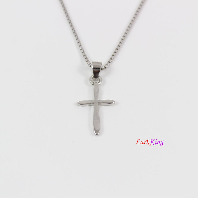 Tiny cross necklace, sterling silver cross necklace, simple cross pendant, cross necklace girl, cross for boy, christian jewelry,  NE8431