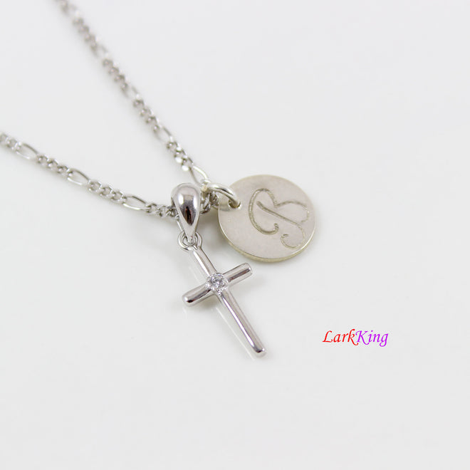Silver personalized necklace