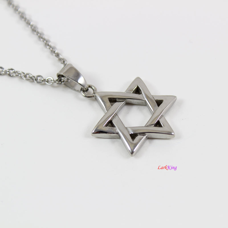 Stainless steel Star of David necklace, Jewish star necklace, star necklace, Star of David pendant, religious necklace, Jewish gift, LK7135