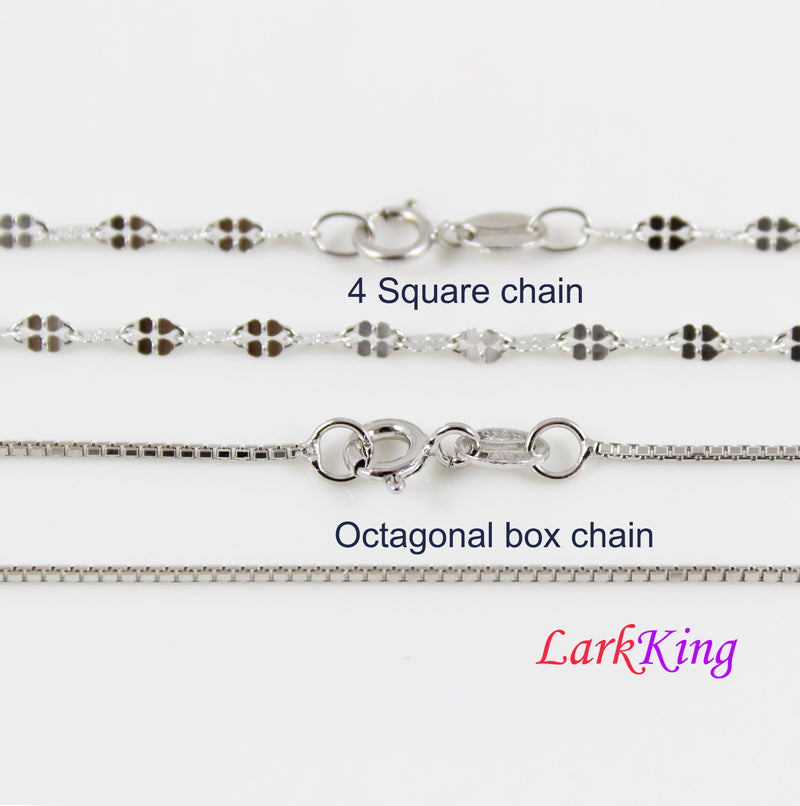 Sterling silver chain, silver necklace chain, sterling chain, Figaro chain, Rope chain, Spiga chain, Box chain, Cuban chain, Chopin chain