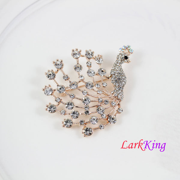 Brooch, Peacock brooch, peacock fashion brooch, crystal peacock brooch, rhinestone crystal peacock brooch, women gift, birthday gift, BH102