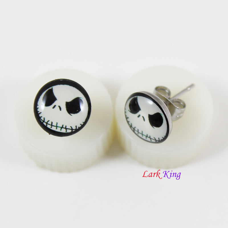 Stainless steel scarecrow stud earrings, scarecrow studs, scarecrow earrings, statement stud earrings, stud earrings for men, LK3551