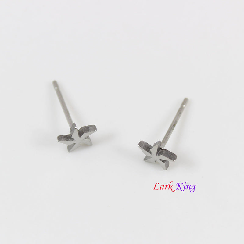 stainless steel pinwheel stud earrings, pinwheel studs, pinwheel earrings, natural studs, stud earrings for women, studs for men, LK3557