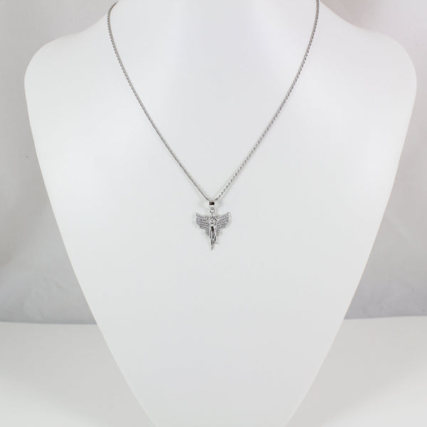 Sterling silver fairy necklace, silver fairy pendant, silver fairy charm, fairy necklace for women, fairy for girls, fairy gift, LK13016