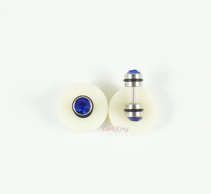 Navy blue stud earrings, stud earrings, blue earrings, unique studs, unique gifts, statement earrings, simple earrings, cute, LarkKing ER318