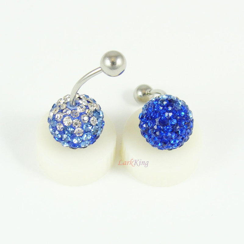 Blue earrings, blue studs, stud earrings, snow sphere, disco ball, blue ball, unique gifts, bridesmaid gift, surgical steel earring, ER338