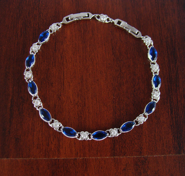 Blue bracelet, fashion bracelet, crystal bracelet, unique bracelet, women bracelet, bridesmaid gift, gifts for girlfriend, unique gift, BR30