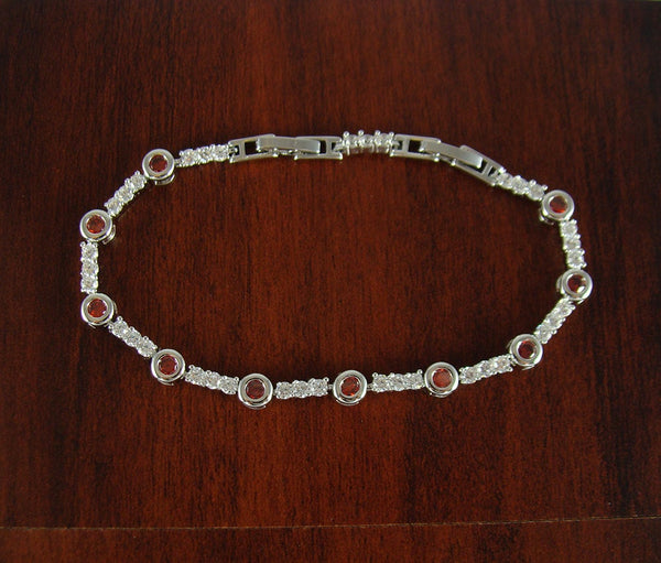 Jewelry bracelet, crystal bracelet, white gold filled stainless steel unique bracelet, charm bracelet, friendship bracelet, unique gift BR27