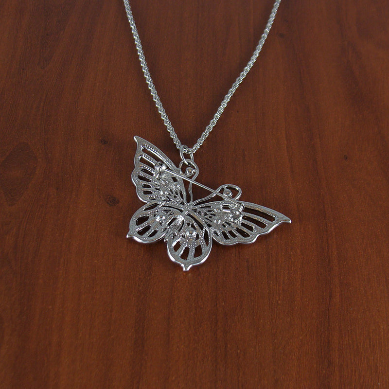 Butterfly necklace, crystal necklace, statement necklace, fashion necklace, gifts for girls, birthday necklace, affordable necklace, NE1073