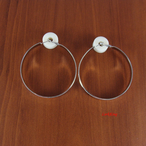 Hoop earrings, unique gifts for women, loop earrings, large hoop earrings, large hoops, modern earrings, simple earrings, LarkKing ER1002