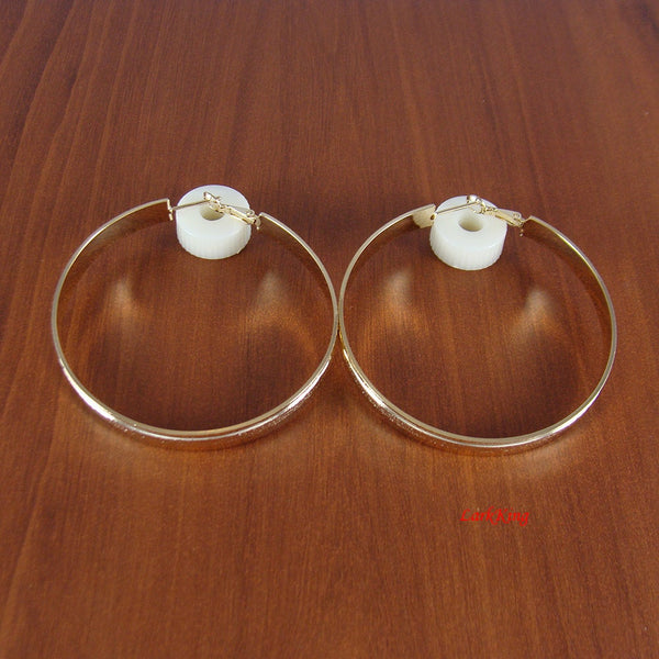 Hoop earrings, unique gifts for women, loop earrings, large hoop earrings, large hoops, modern earrings, simple earrings, LarkKing ER1003
