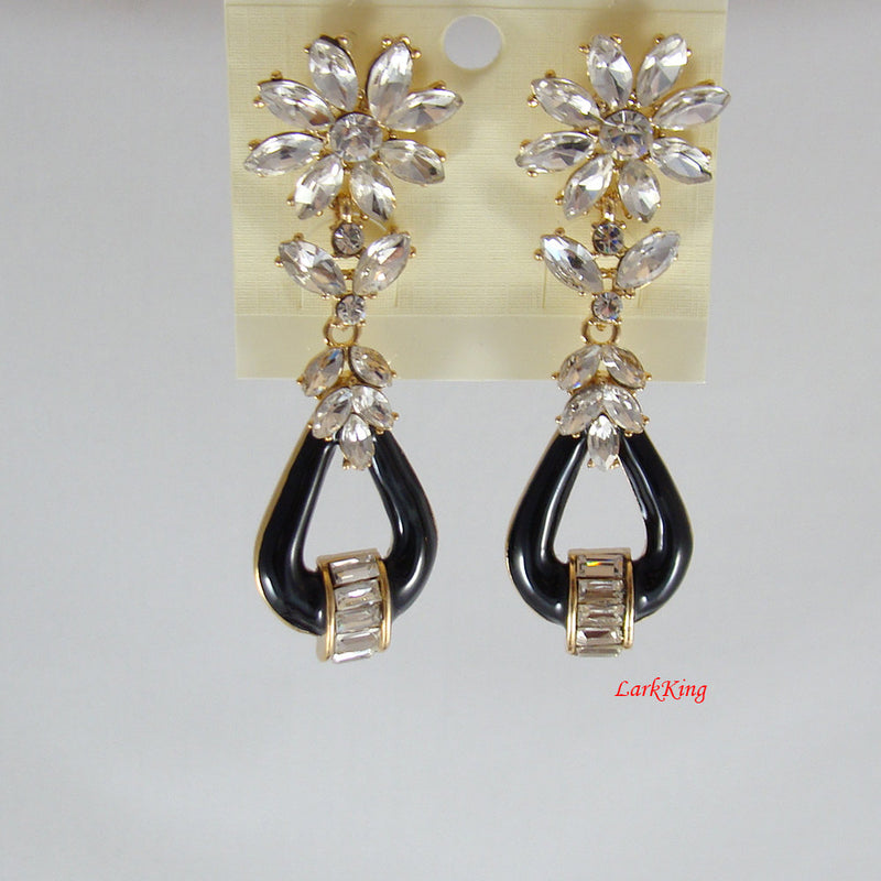 Dangle flower earrings, unique gift for her, statement earrings, dangle earrings, everyday earrings, gifts for teenagers, LarkKing ER1037