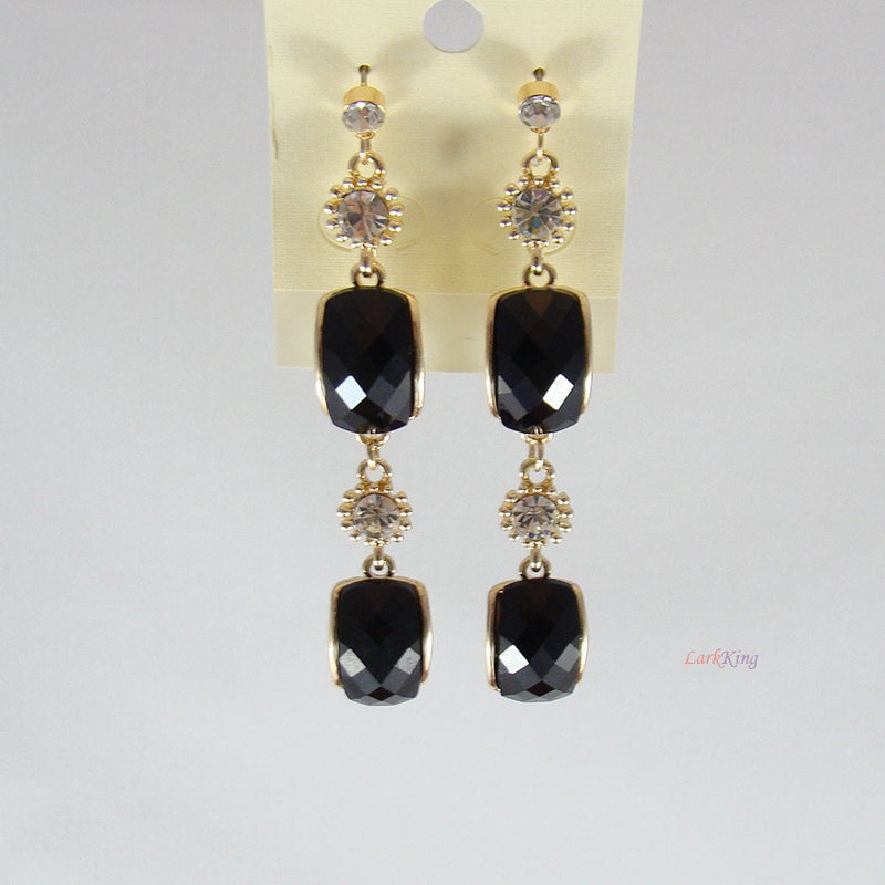 Black earrings, dangle earrings, dangling earrings, unique gifts, gifts for her, girl gifts, women gifts, birthday gifts, LarkKing ER1074