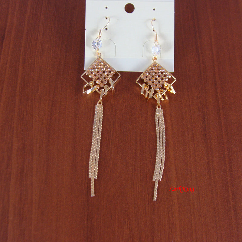 Diamond shape earrings, tassel earrings, dangle earrings, unique gifts for her, for women, unique earrings, girls earrings, LarkKing ER1124